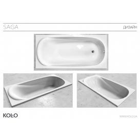 Ванна акриловая  SAGA 170х80, купить в Киеве, доставка по Украине